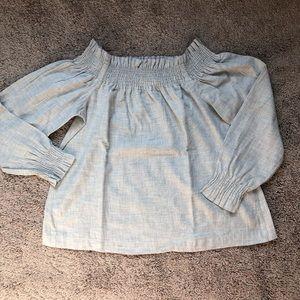 Ann Taylor LOFT gray blouse size XS